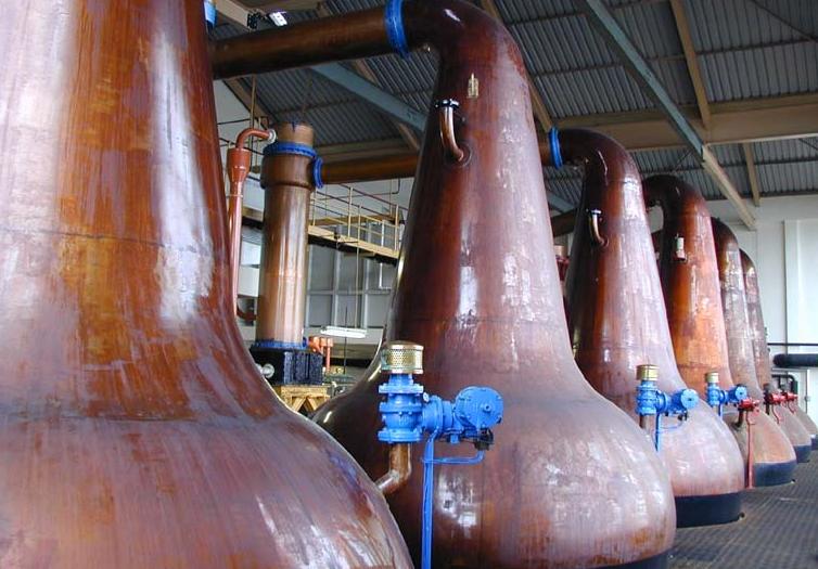 Destilería de whisky